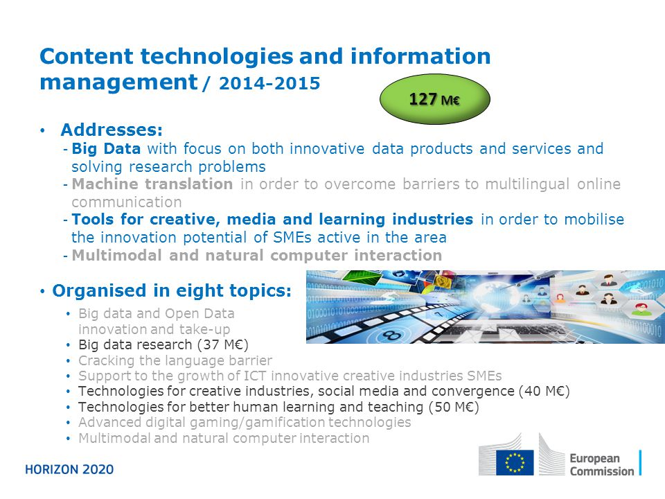 Content technologies and information management / 2014-2015