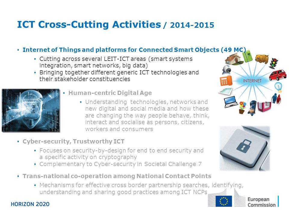 ICT Cross-Cutting Activities / 2014-2015