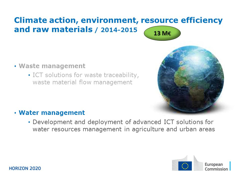 Climate action, environment, resource efficiency and raw materials / 2014-2015