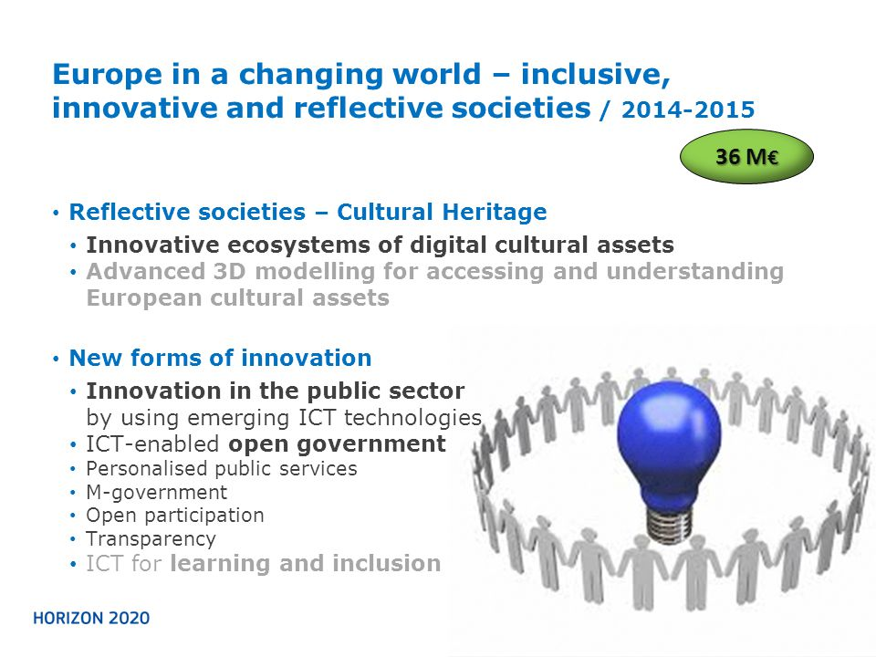 Europe in a changing world – inclusive, innovative and reflective societies / 2014-2015