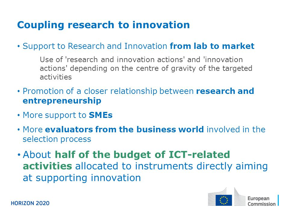 Coupling research to innovation