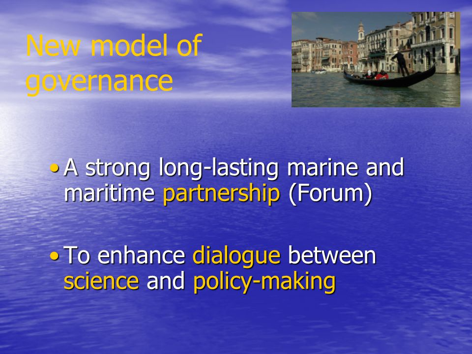 New model of governance
