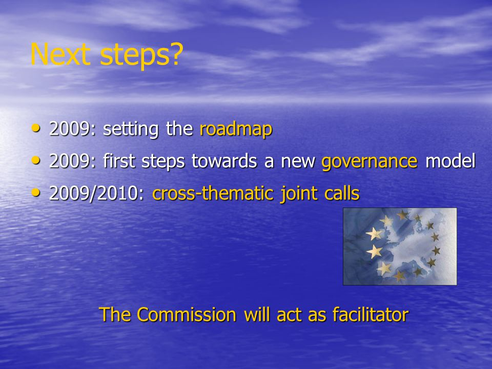 The Commission will act as facilitator
