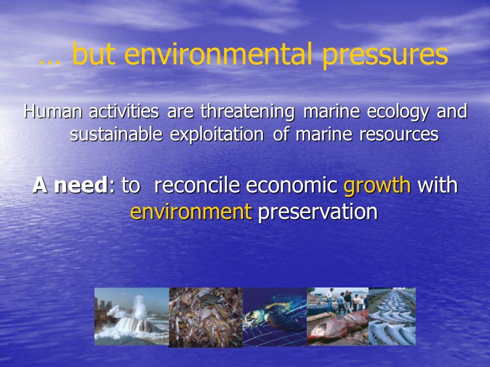 … but environmental pressures