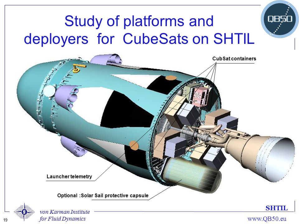 Study of platforms and deployers for CubeSats on SHTIL
