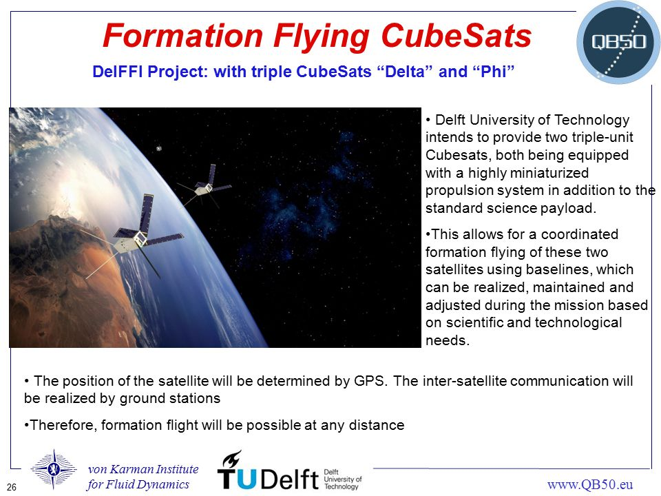 Formation Flying CubeSats
