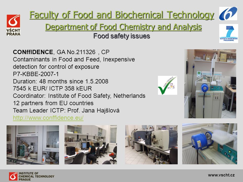 Faculty of Food and Biochemical Technology Department of Food Chemistry and Analysis Food safety issues