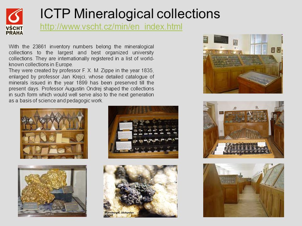 ICTP Mineralogical collections