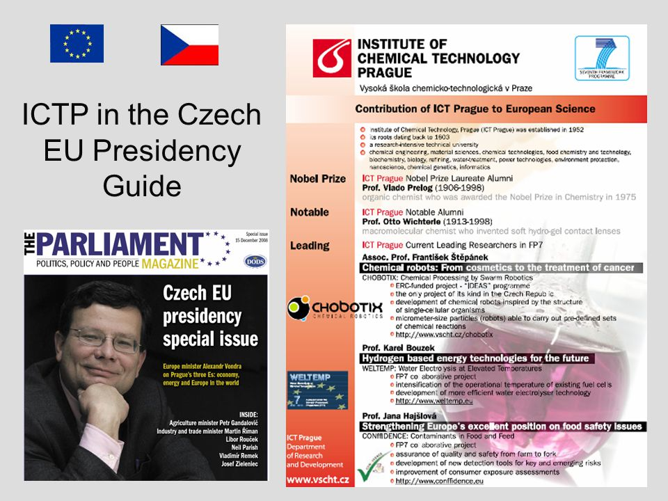 ICTP in the Czech EU Presidency Guide