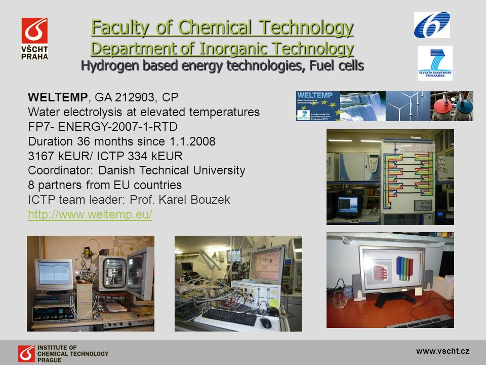 Faculty of Chemical Technology Department of Inorganic Technology Hydrogen based energy technologies, Fuel cells