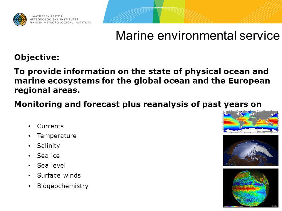Marine environmental service
