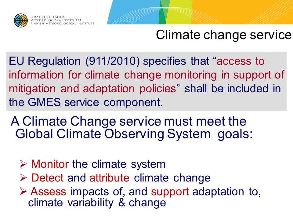 Climate change service