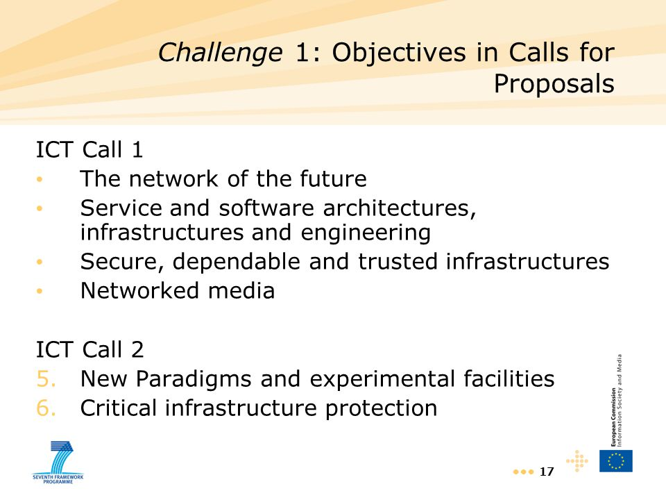 Challenge 1: Objectives in Calls for Proposals