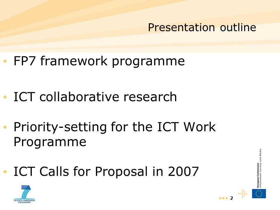 FP7 framework programme ICT collaborative research