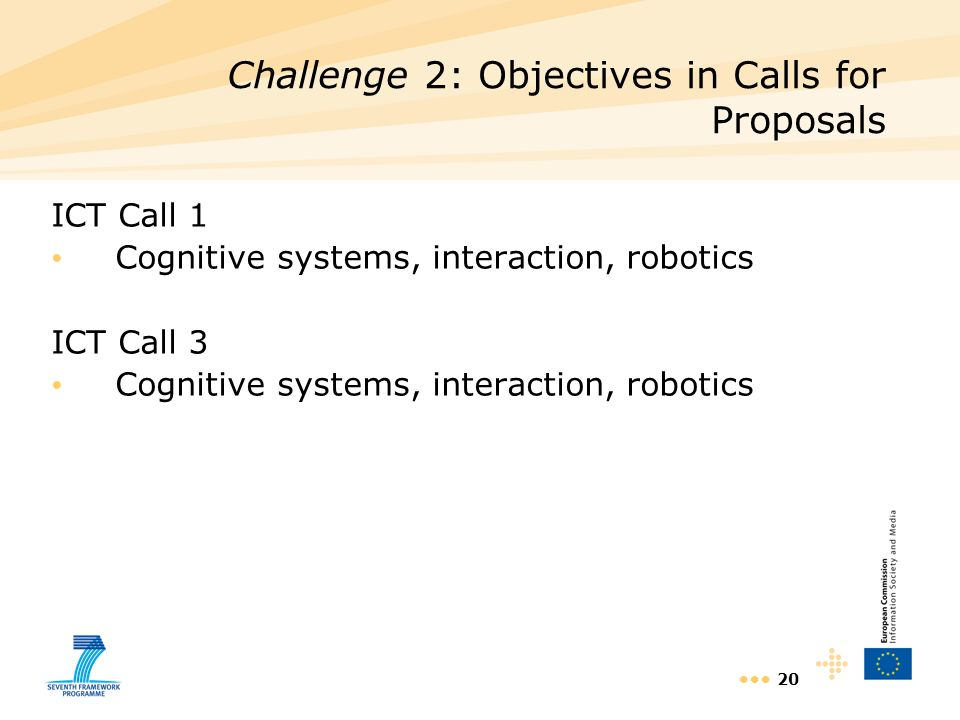 Challenge 2: Objectives in Calls for Proposals