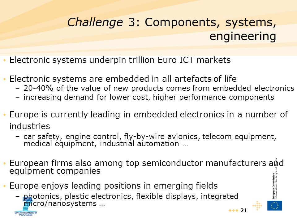 Challenge 3: Components, systems, engineering