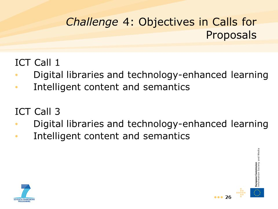 Challenge 4: Objectives in Calls for Proposals