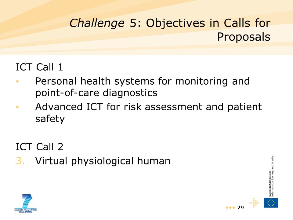 Challenge 5: Objectives in Calls for Proposals