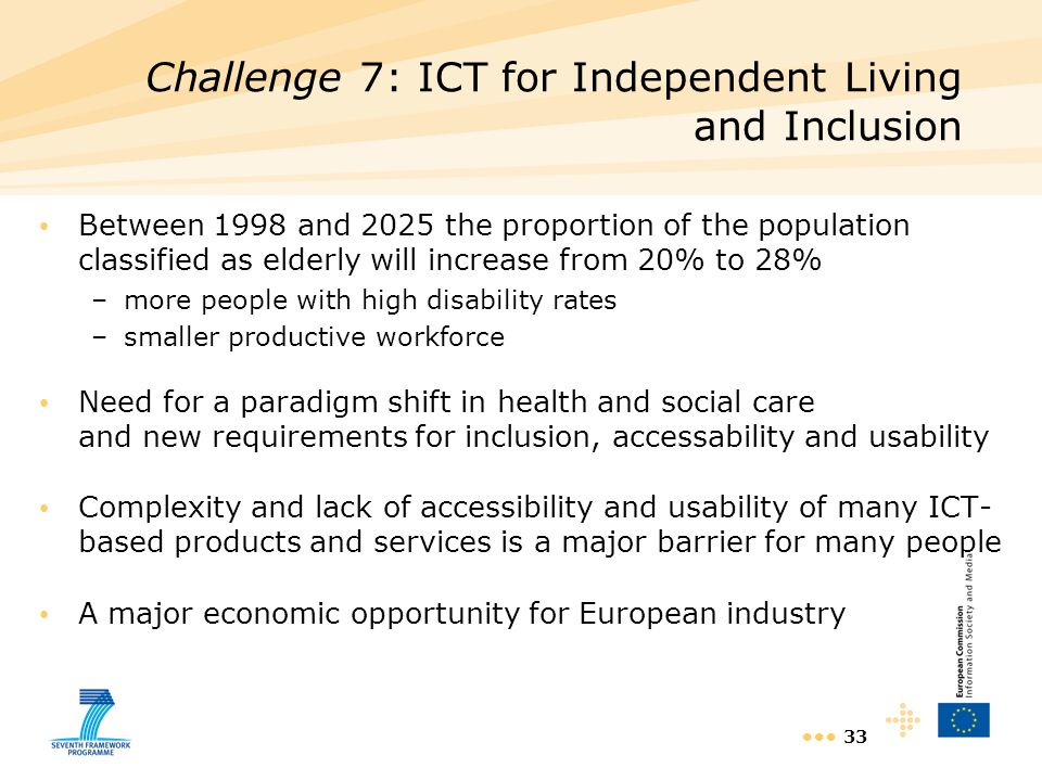 Challenge 7: ICT for Independent Living and Inclusion