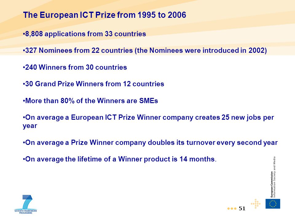 The European ICT Prize from 1995 to 2006
