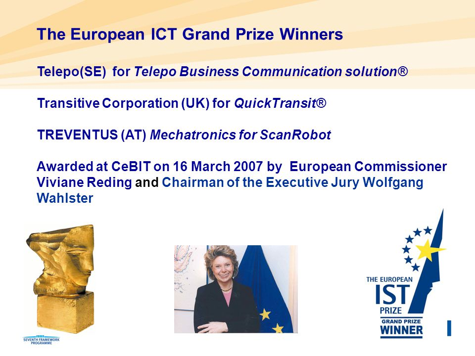 The European ICT Grand Prize Winners