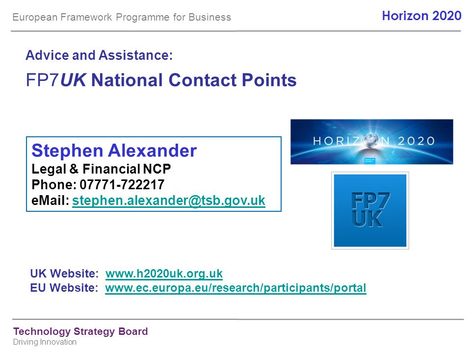 FP7UK National Contact Points