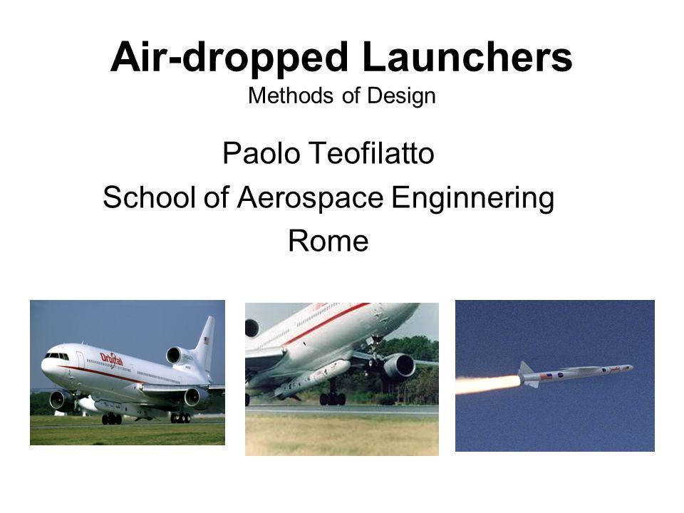 Air-dropped Launchers Methods of Design