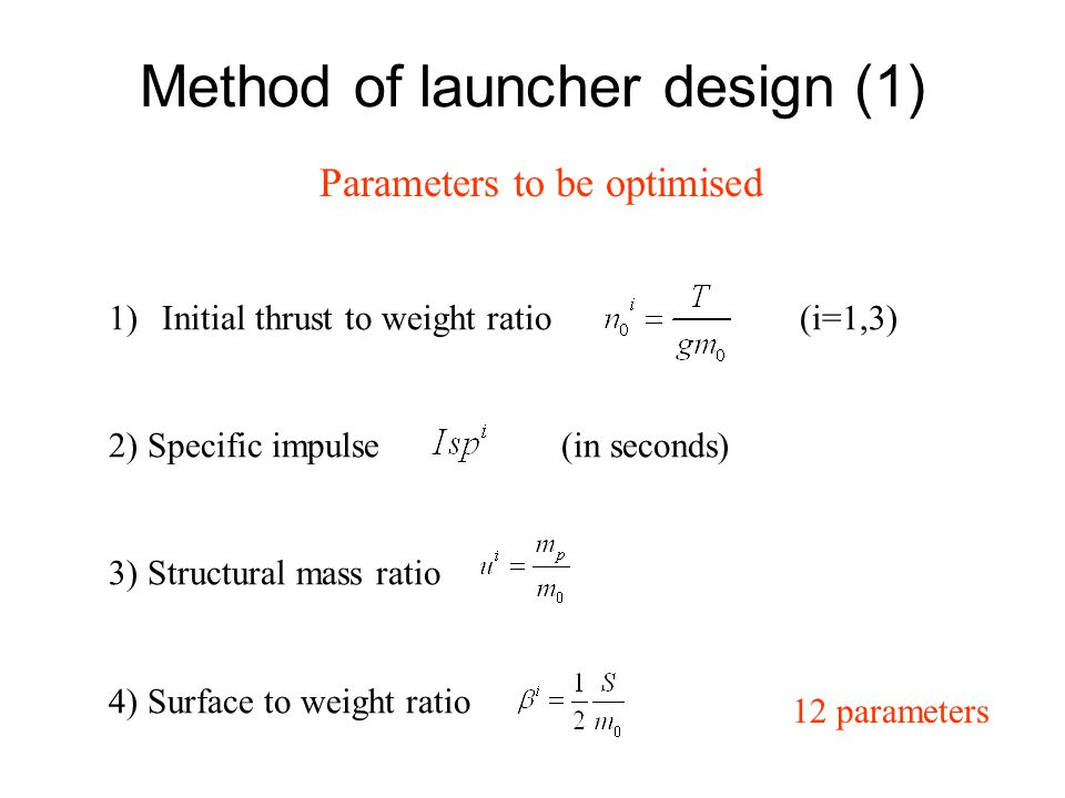 Method of launcher design (1)