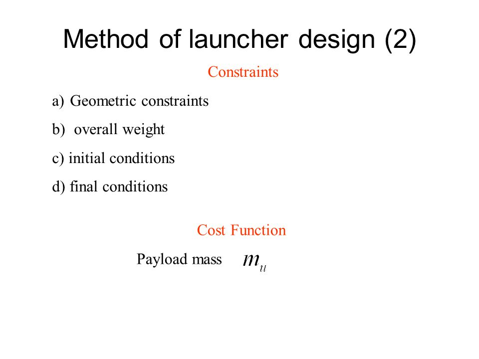 Method of launcher design (2)