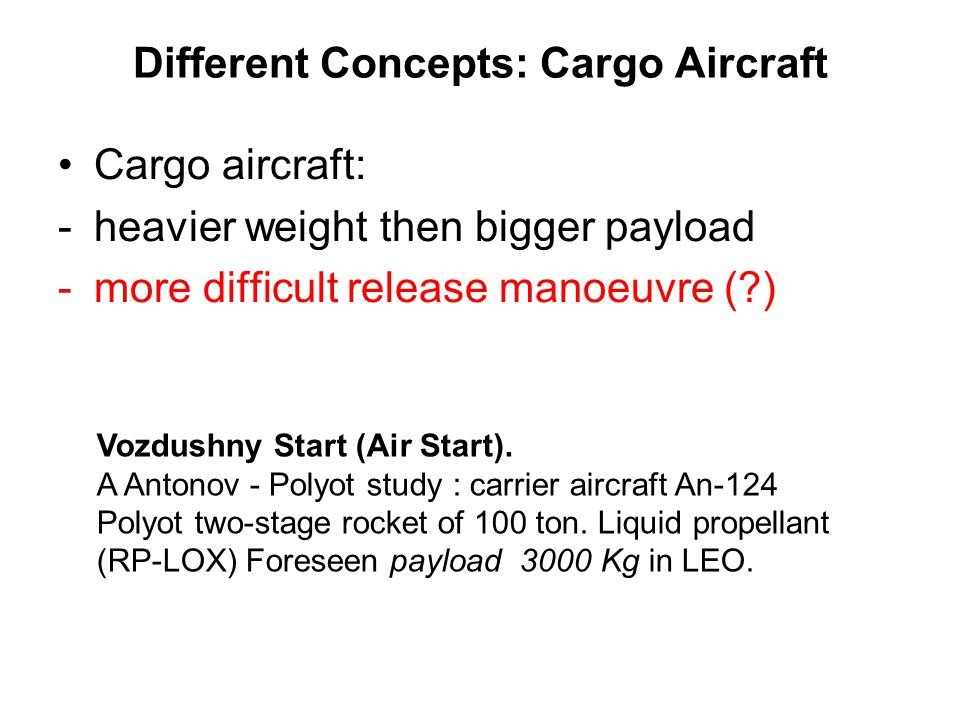 Different Concepts: Cargo Aircraft