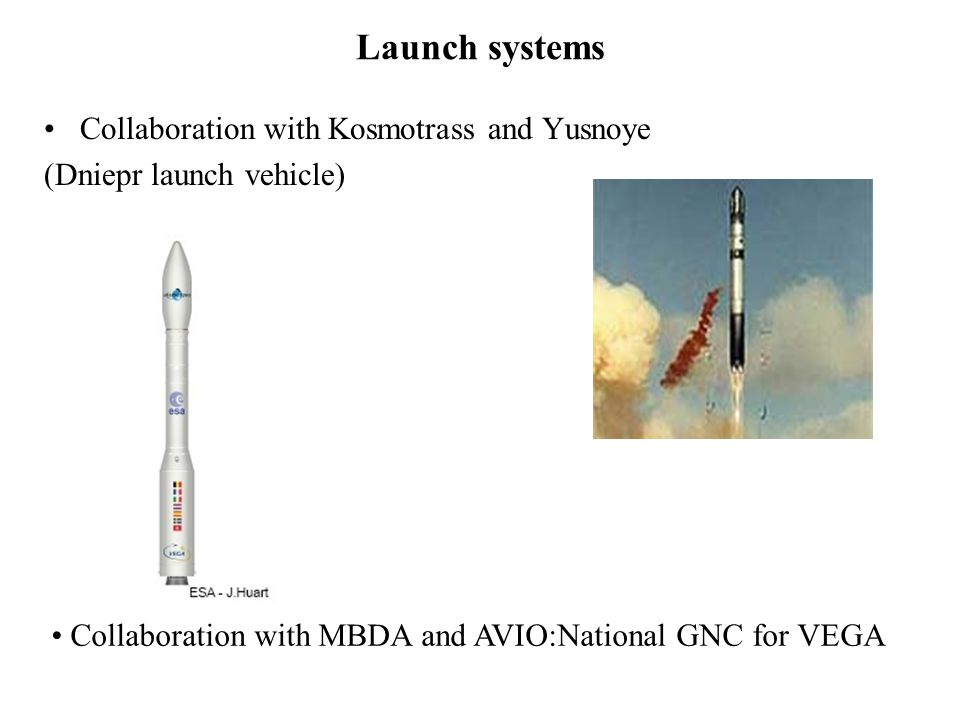 Launch systems Collaboration with Kosmotrass and Yusnoye