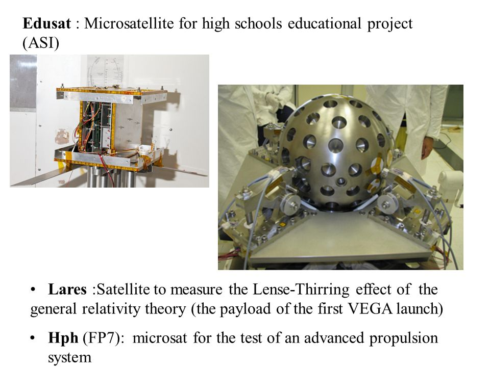 Edusat : Microsatellite for high schools educational project (ASI)