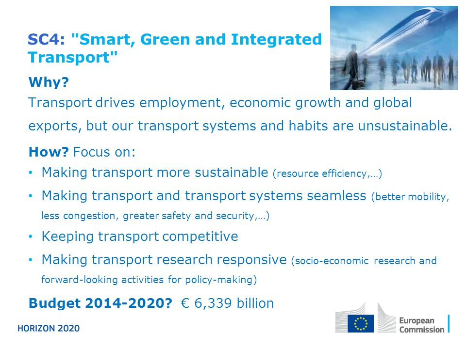 SC4: Smart, Green and Integrated Transport