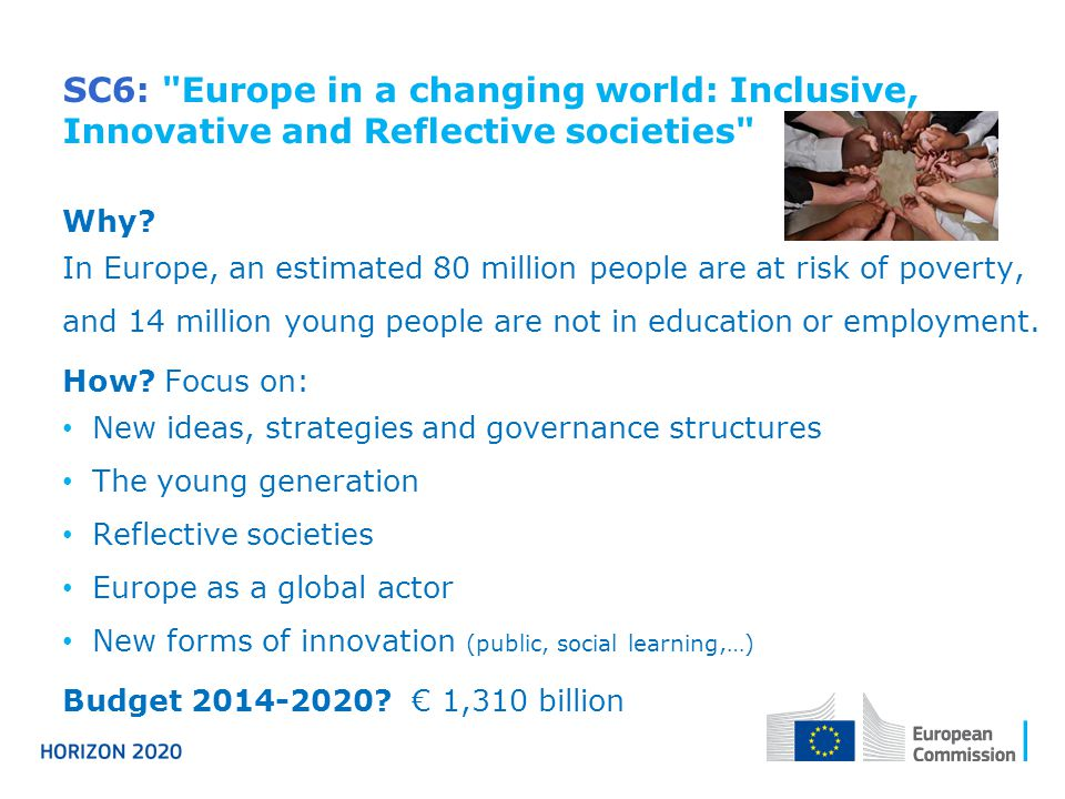 SC6: Europe in a changing world: Inclusive, Innovative and Reflective societies