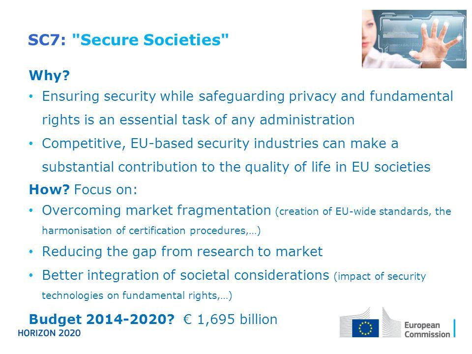 SC7: Secure Societies Why