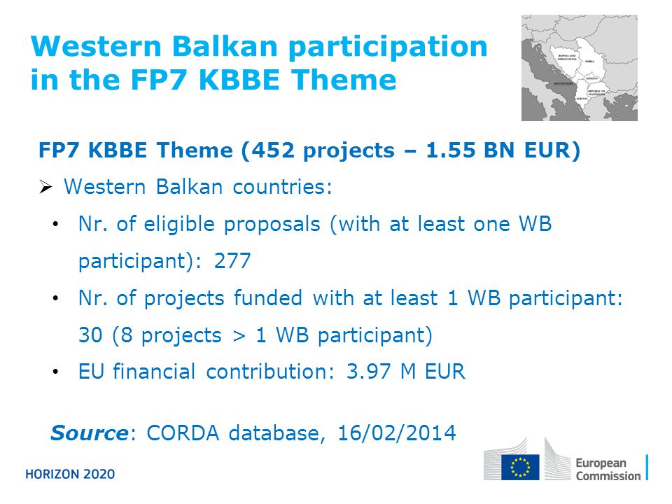 Western Balkan participation in the FP7 KBBE Theme