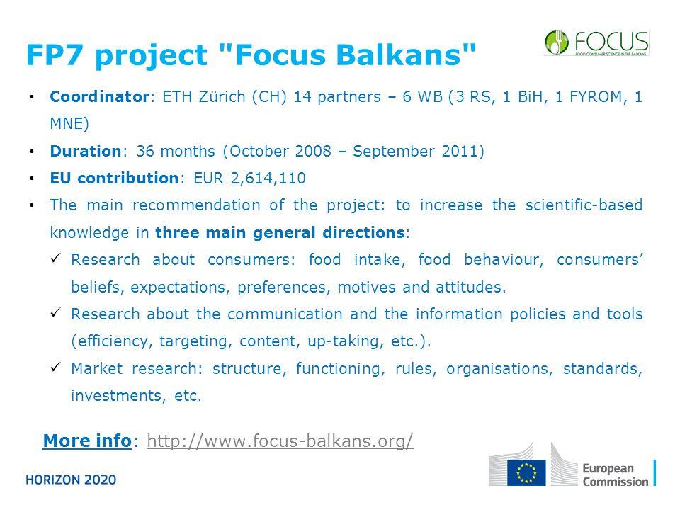 FP7 project Focus Balkans