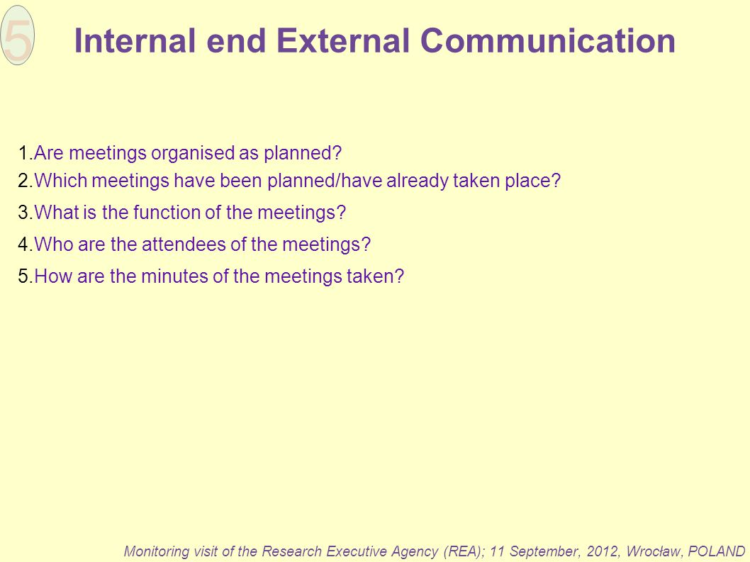 Internal end External Communication