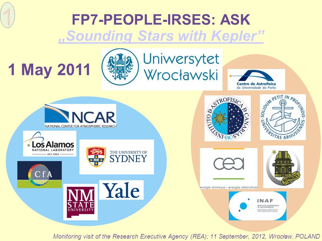 "FP7-PEOPLE-IRSES: ASK ""Sounding Stars with Kepler"