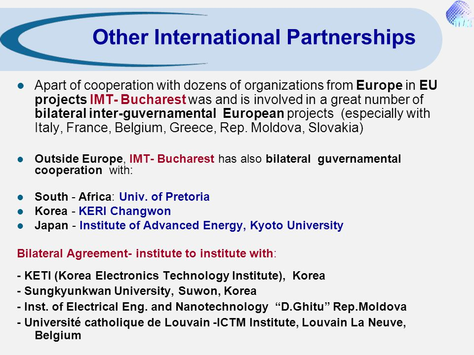 Other International Partnerships