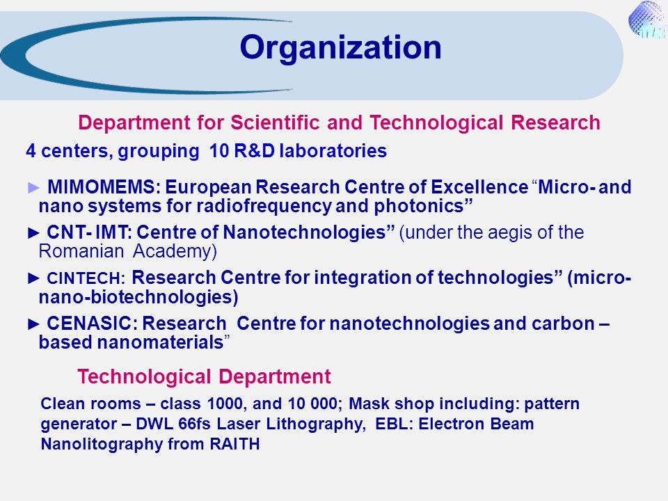 Department for Scientific and Technological Research