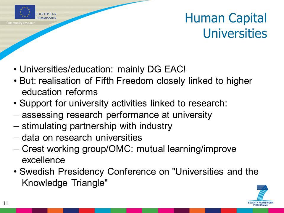 Human Capital Universities