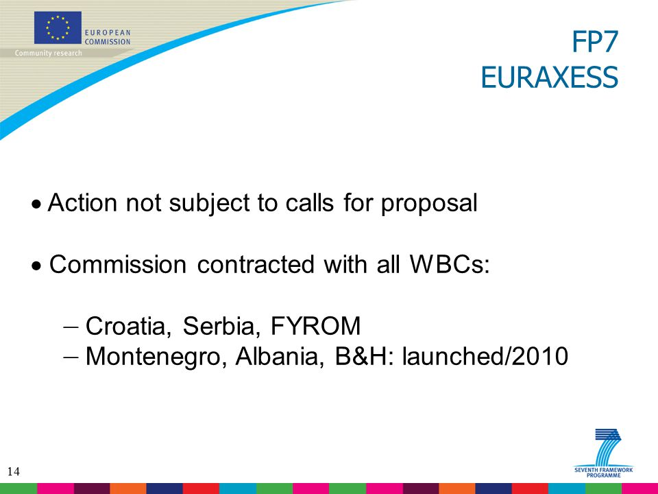 FP7 EURAXESS Action not subject to calls for proposal
