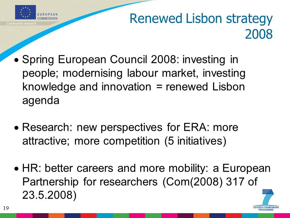 Renewed Lisbon strategy 2008
