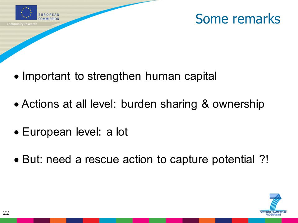 Some remarks Important to strengthen human capital