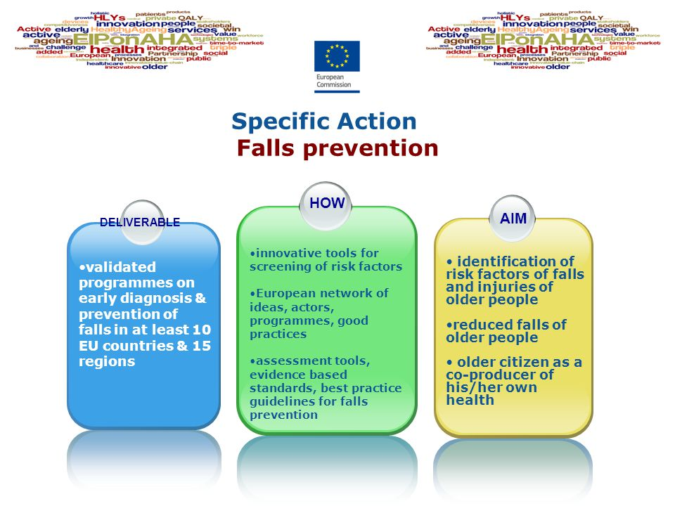 Specific Action Falls prevention