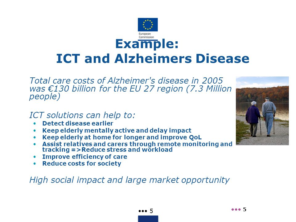 Example: ICT and Alzheimers Disease