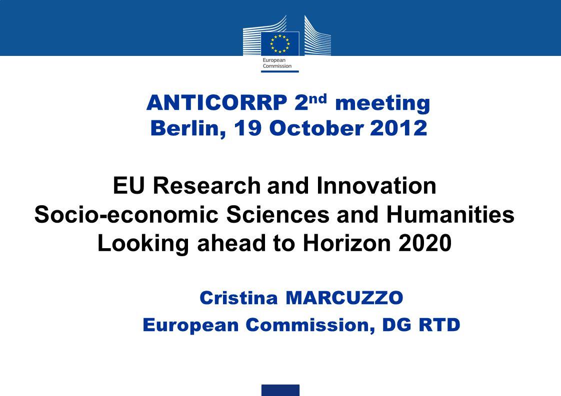 Cristina MARCUZZO European Commission, DG RTD