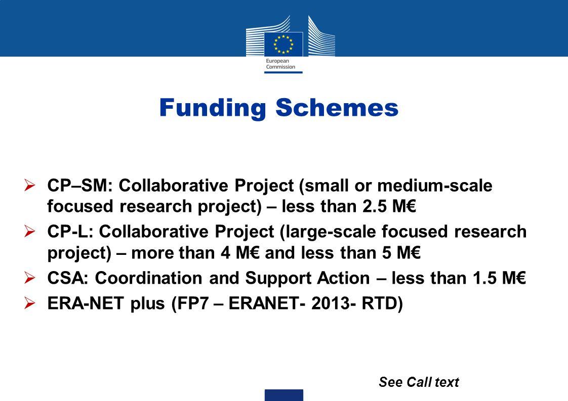 Funding Schemes Funding Schemes SSH WP 2013