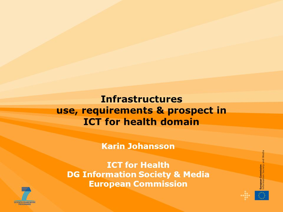 Infrastructures use, requirements & prospect in ICT for health domain